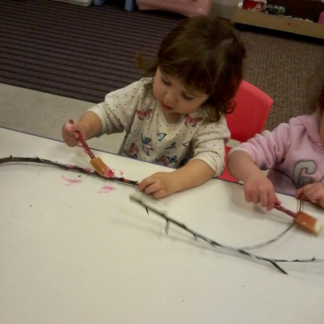 Branch painting